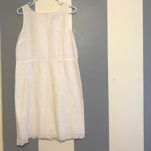 Ann Taylor LOFT white dress